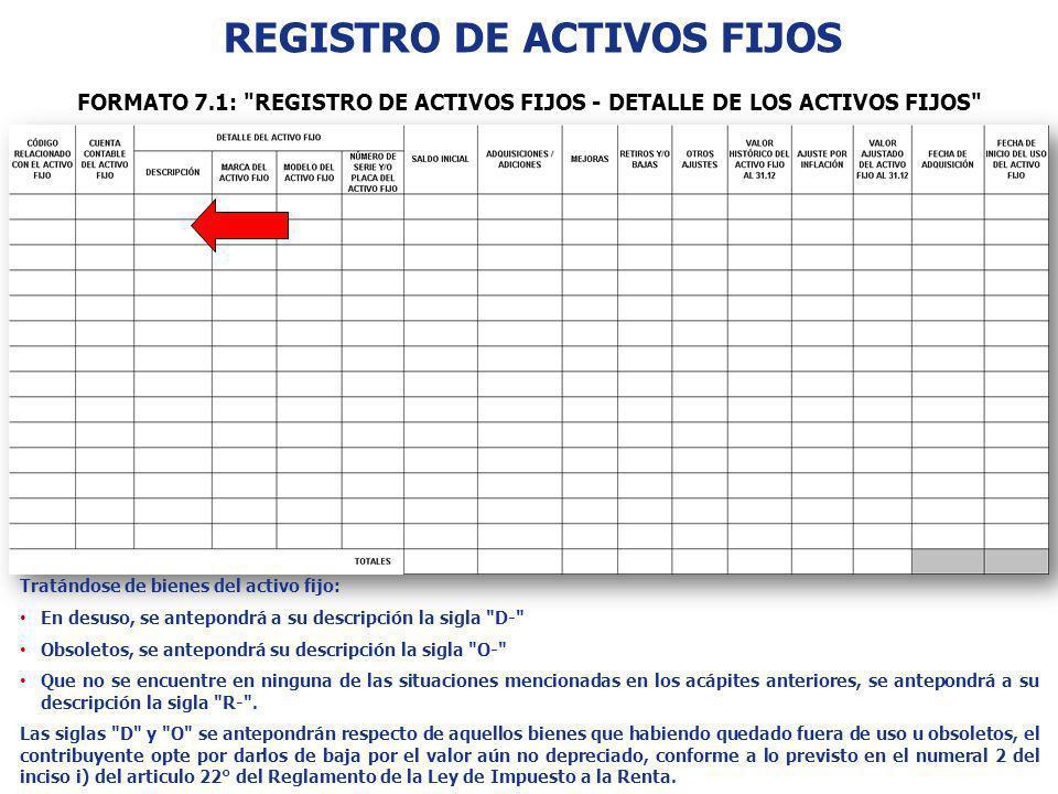 REGISTRO DE ACTIVOS FIJOS