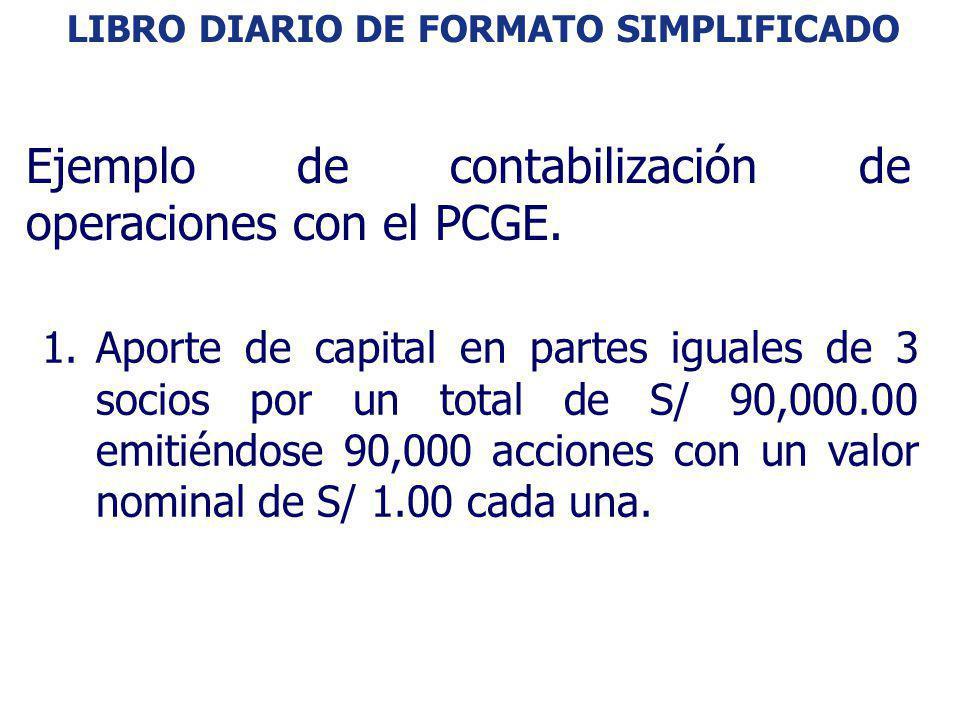 Ejemplo de contabilización de operaciones con el PCGE.