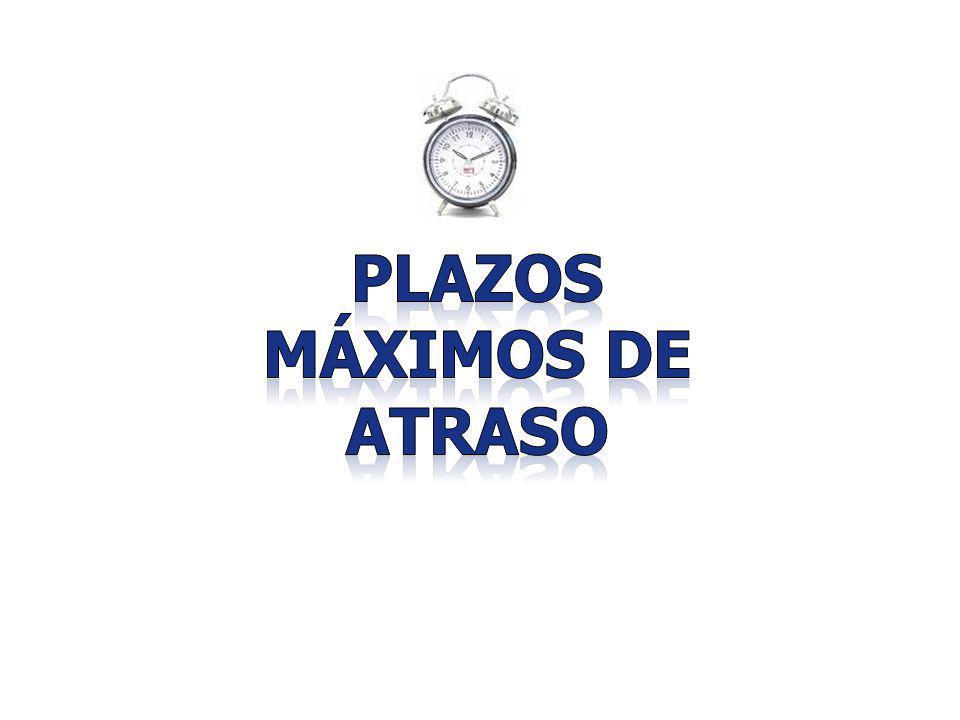 PLAZOS MÁXIMOS DE ATRASO
