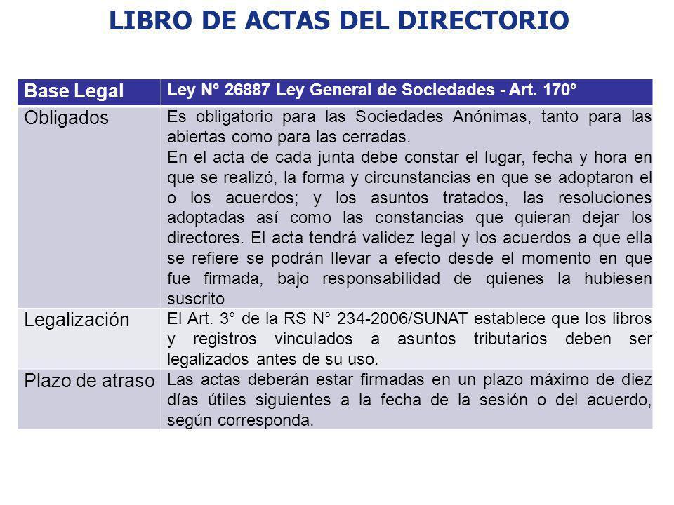 LIBRO DE ACTAS DEL DIRECTORIO