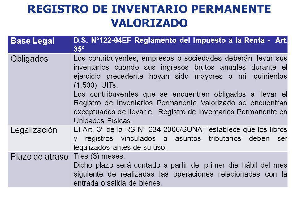 REGISTRO DE INVENTARIO PERMANENTE VALORIZADO