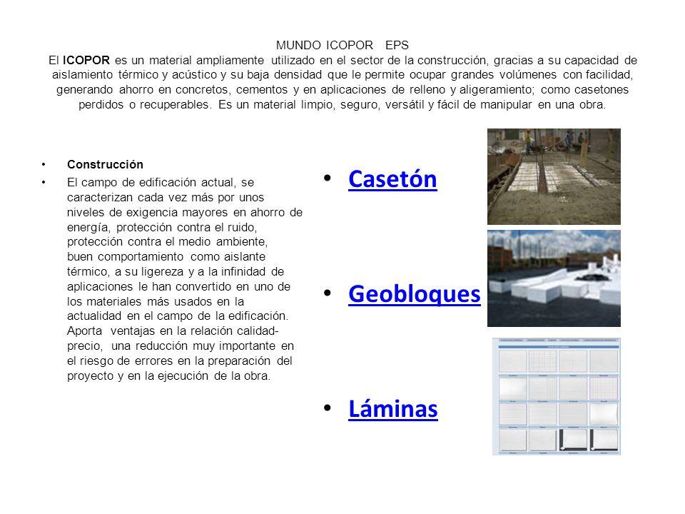 Casetón Geobloques Láminas