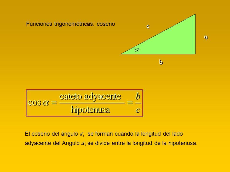 Funciones trigonométricas: coseno