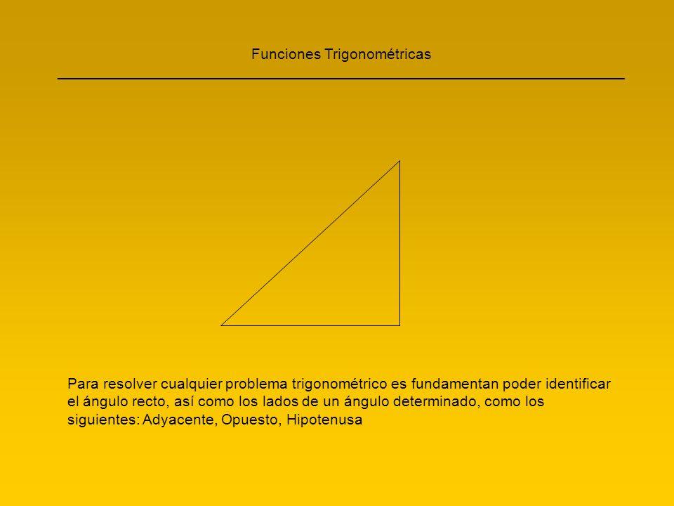 Funciones Trigonométricas ____________________________________________________________________