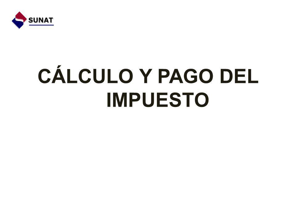 CÁLCULO Y PAGO DEL IMPUESTO