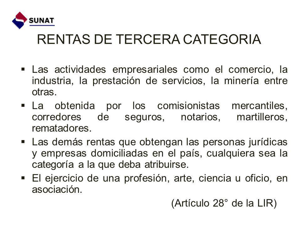 RENTAS DE TERCERA CATEGORIA