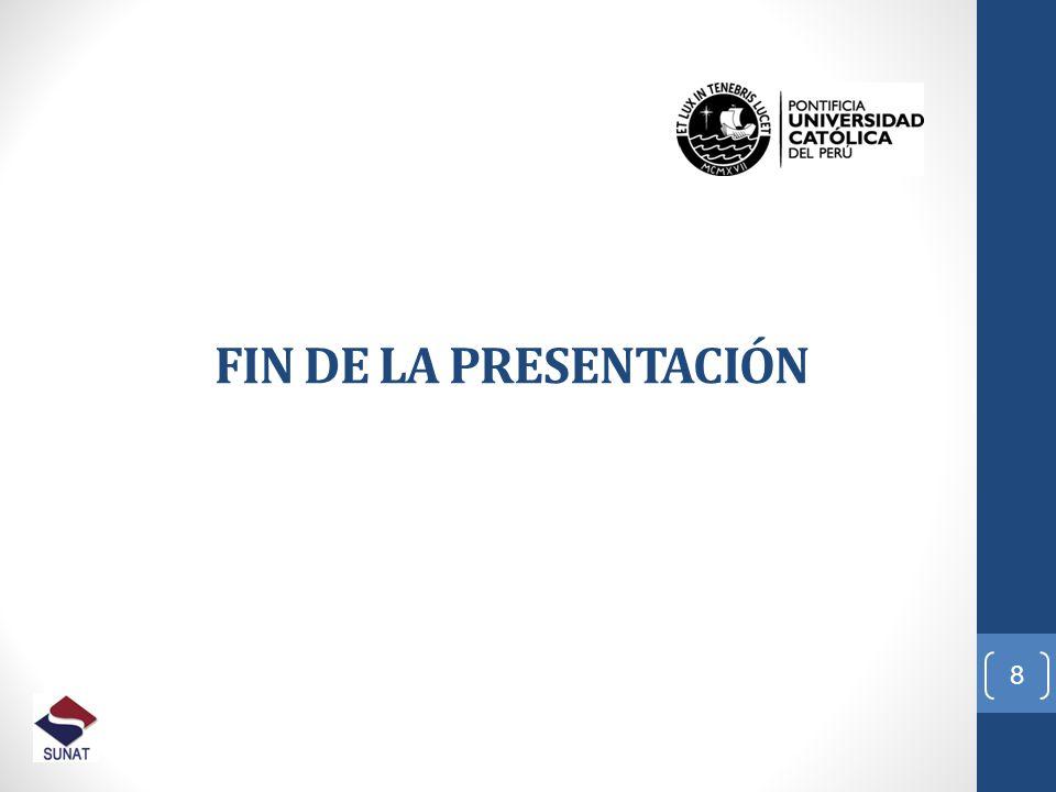 FIN DE LA PRESENTACIÓN 01/04/2017