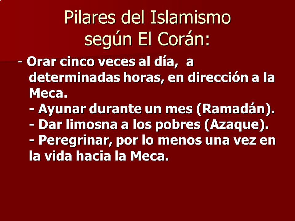 Pilares del Islamismo según El Corán: