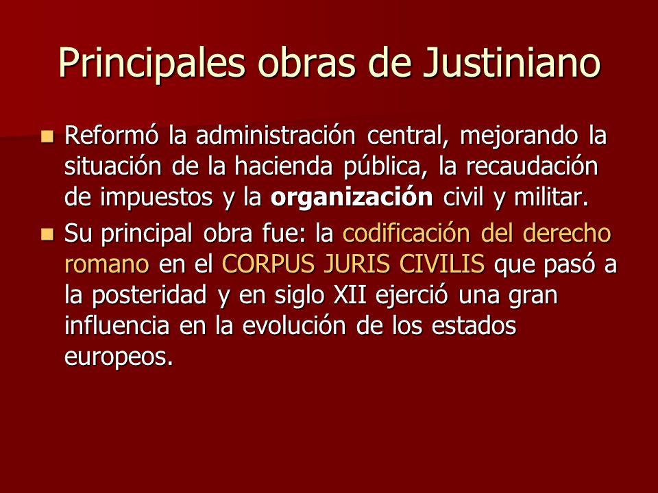 Principales obras de Justiniano