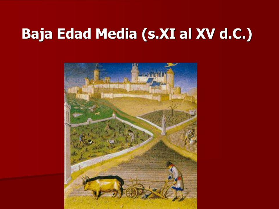 Baja Edad Media (s.XI al XV d.C.)