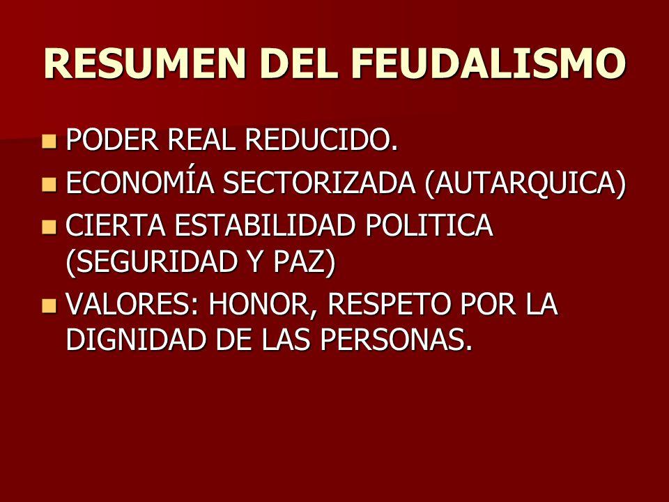 RESUMEN DEL FEUDALISMO