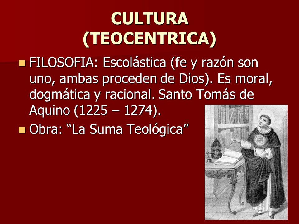 CULTURA (TEOCENTRICA)