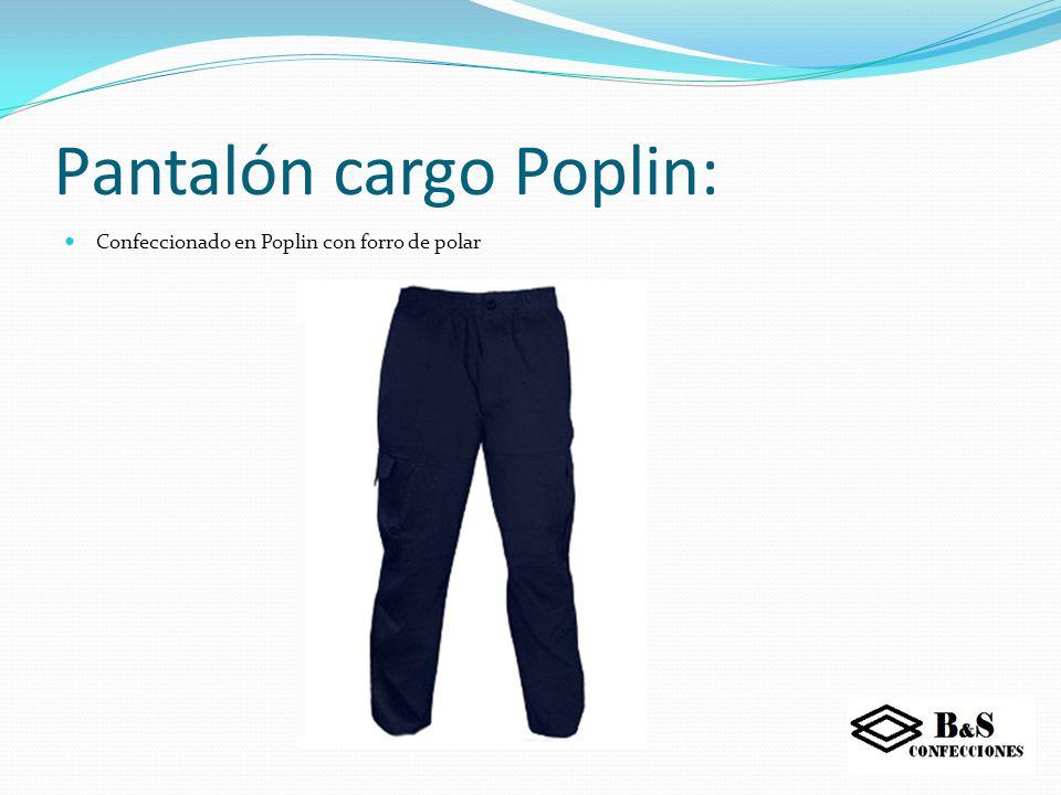 Pantalón cargo Poplin: