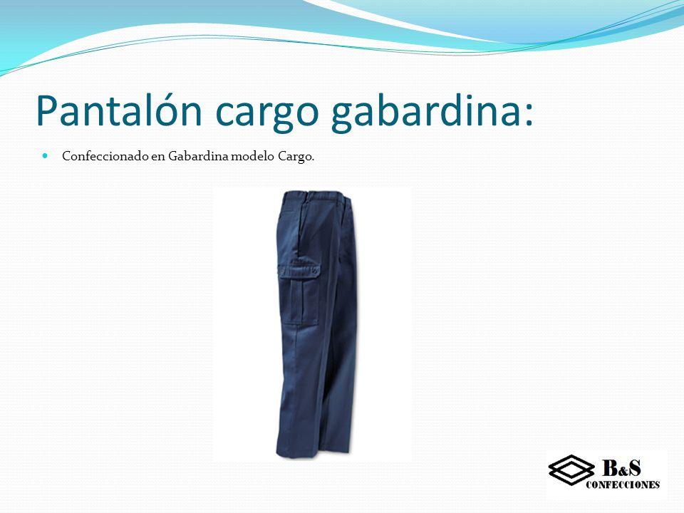 Pantalón cargo gabardina: