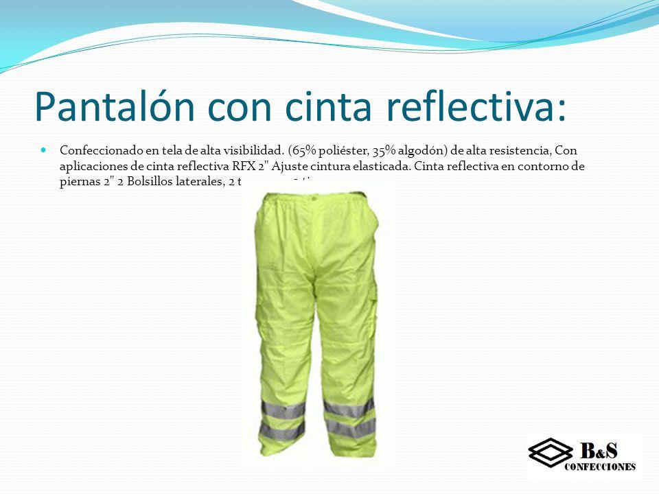 Pantalón con cinta reflectiva: