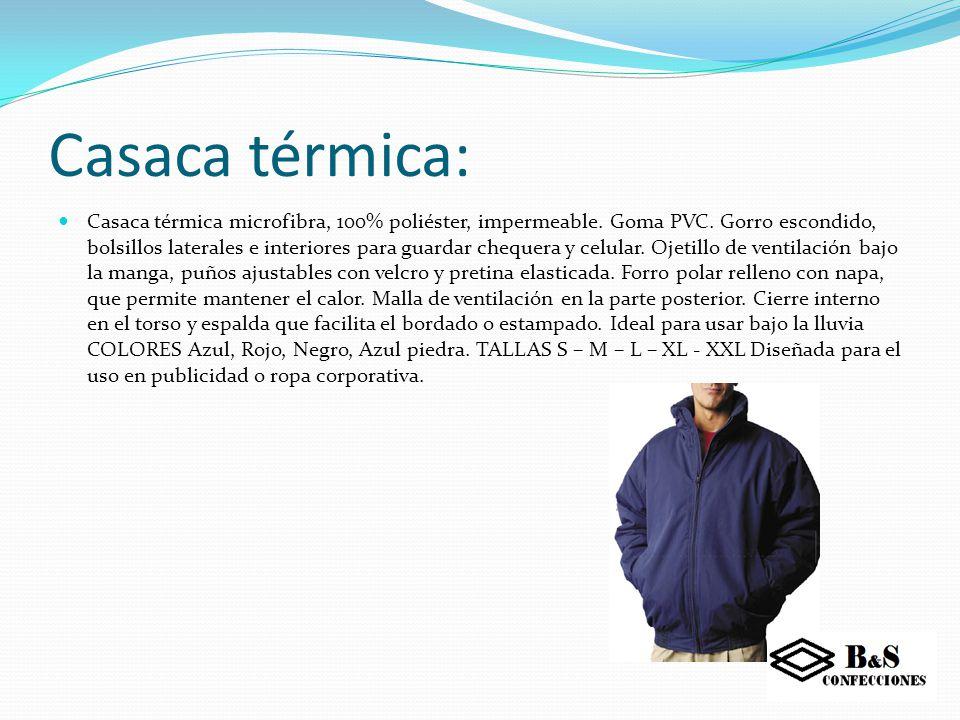 Casaca térmica: