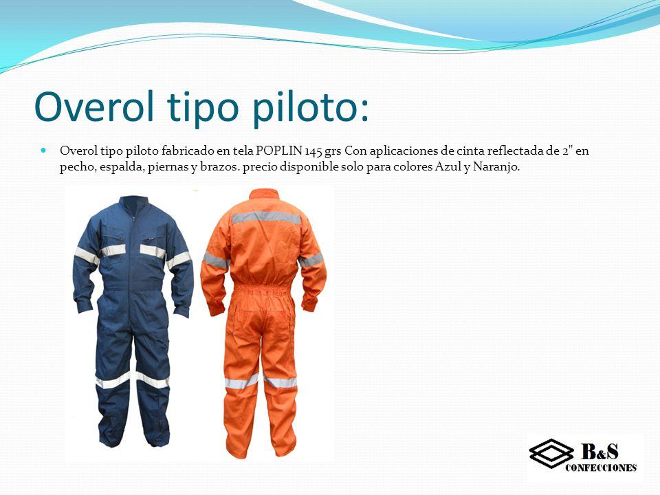 Overol tipo piloto: