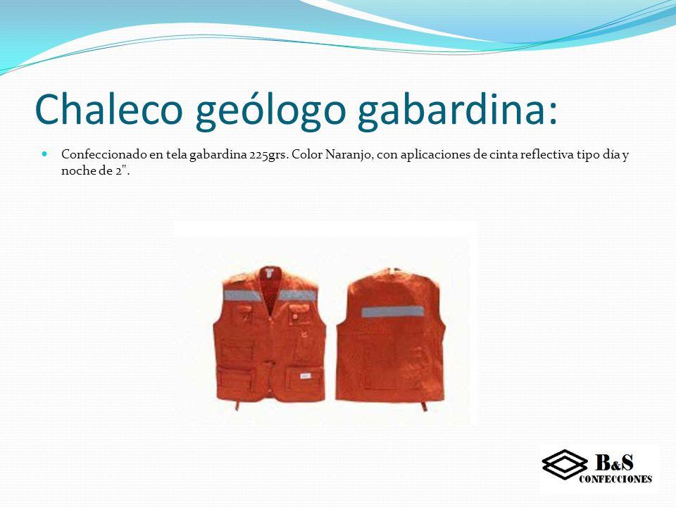 Chaleco geólogo gabardina: