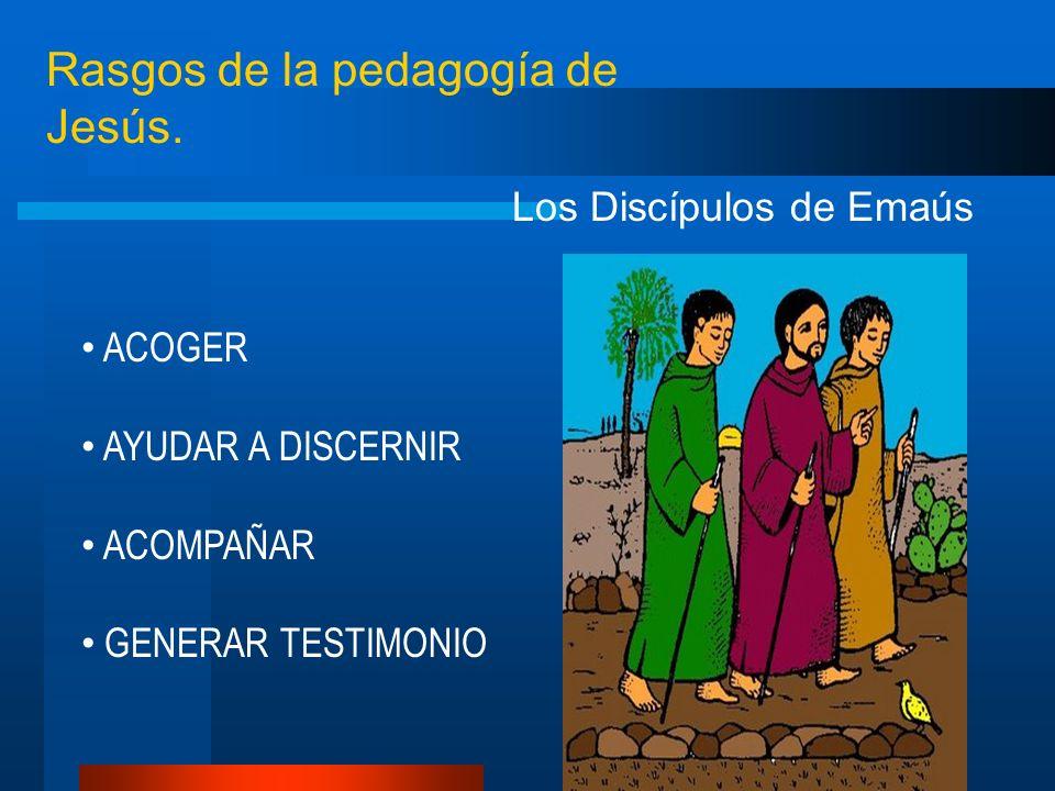 Rasgos de la pedagogía de Jesús.