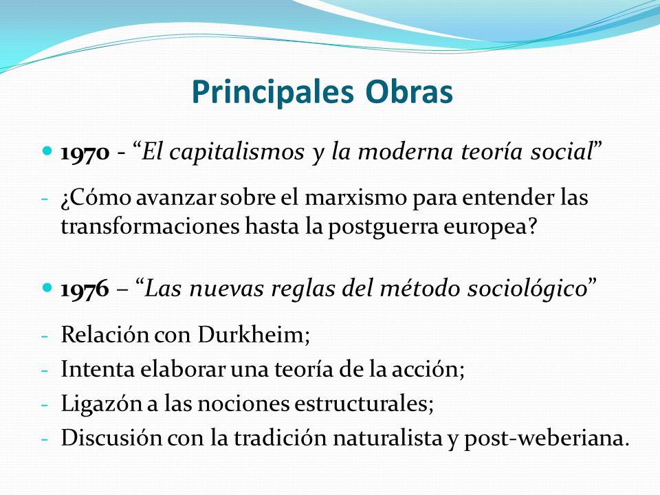 Principales Obras 1970 - El capitalismos y la moderna teoría social