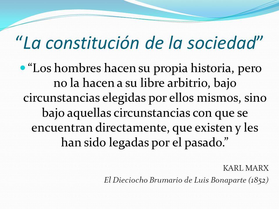 La constitución de la sociedad
