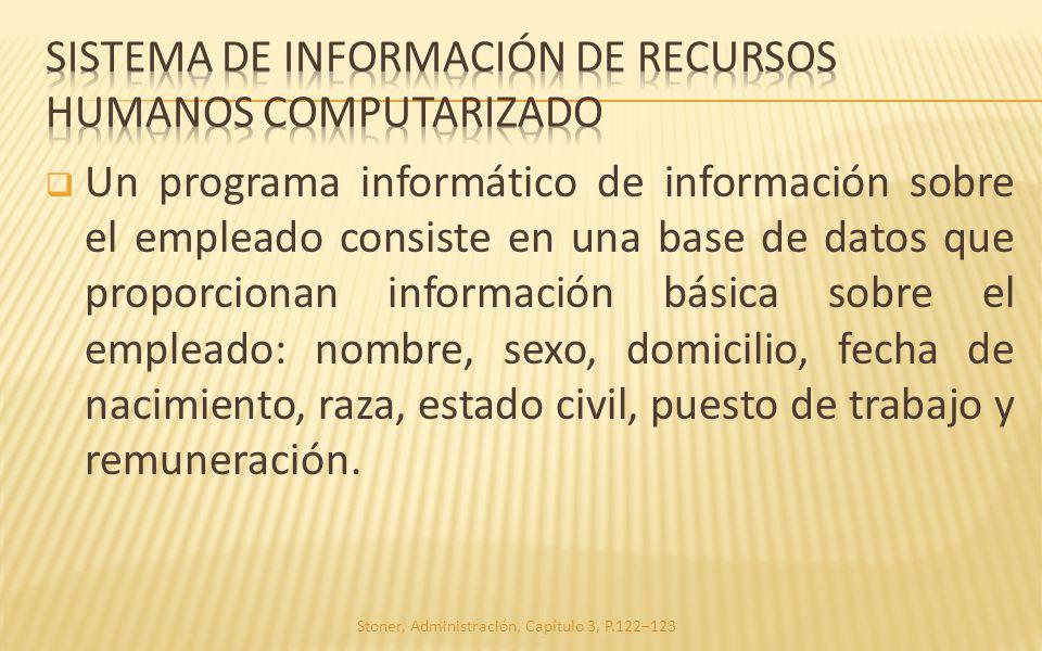 sistema de información de Recursos humanos computarizado