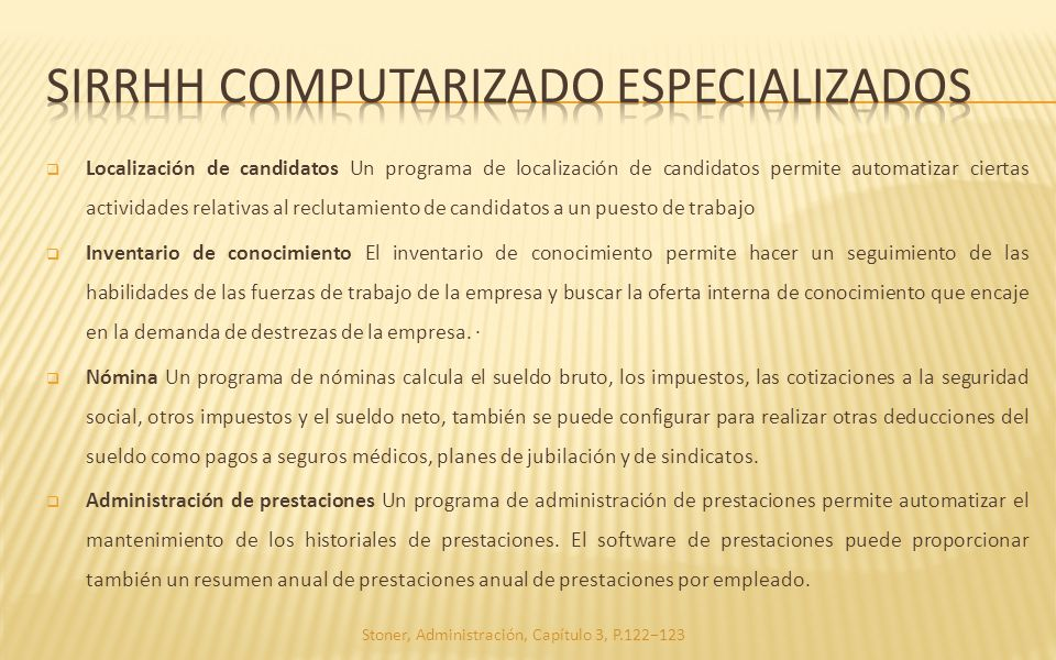siRrhh computarizado especializados