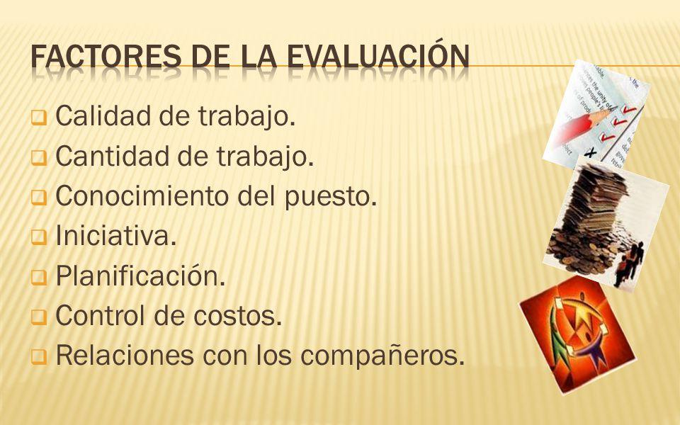 Factores de la evaluación