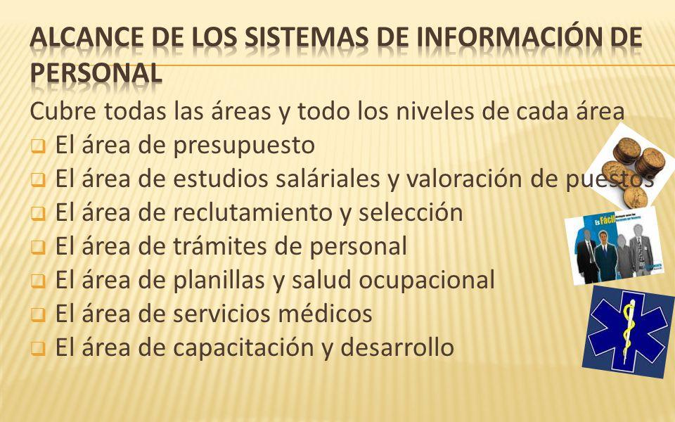 ALCANCE DE LOS SISTEMAS DE INFORMACIÓN DE PERSONAL
