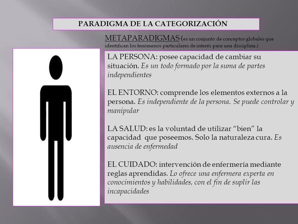 PARADIGMA DE LA CATEGORIZACIÓN