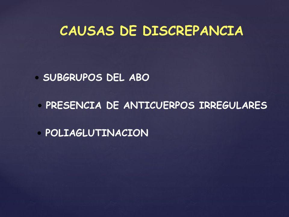 CAUSAS DE DISCREPANCIA