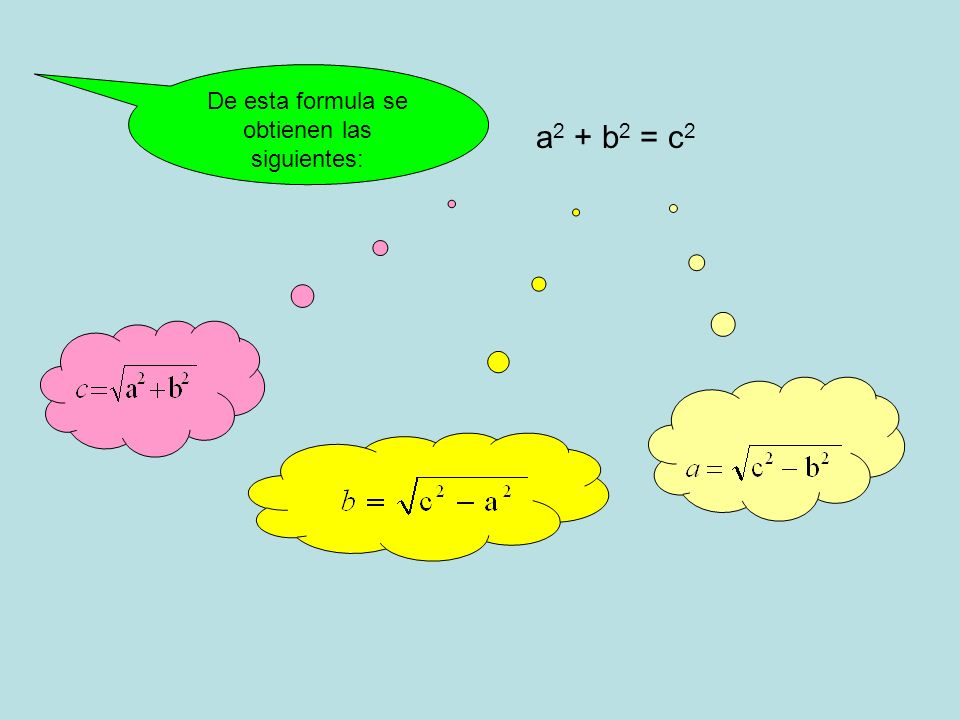 De esta formula se obtienen las siguientes: