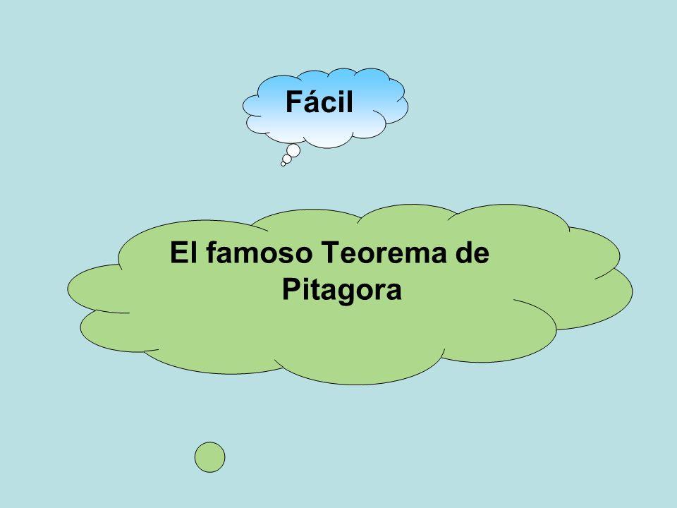 El famoso Teorema de Pitagora