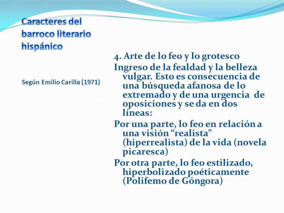 Caracteres del barroco literario hispánico