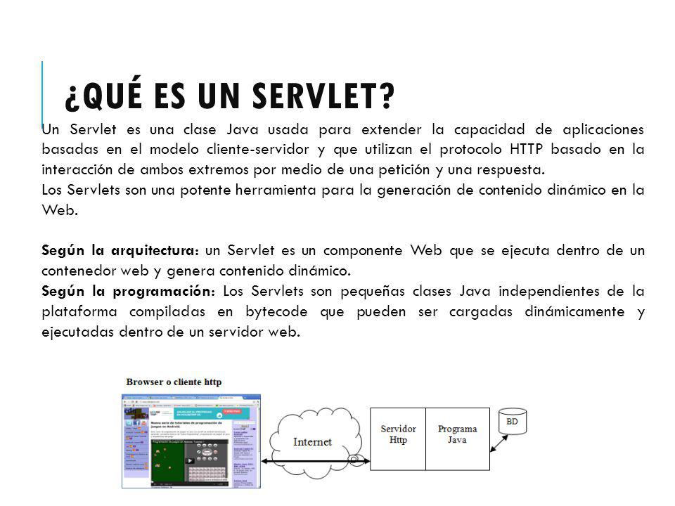 ¿Qué es un Servlet