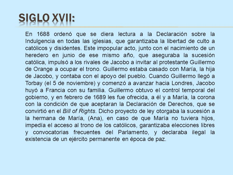 SIGLO XVII: