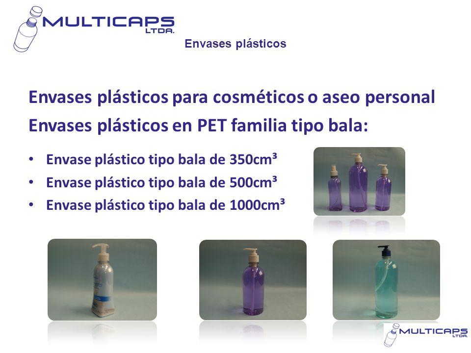 Envases plásticos para cosméticos o aseo personal