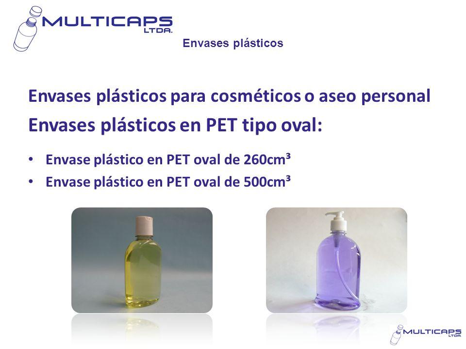 Envases plásticos en PET tipo oval: