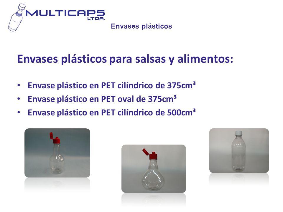 Envases plásticos para salsas y alimentos: