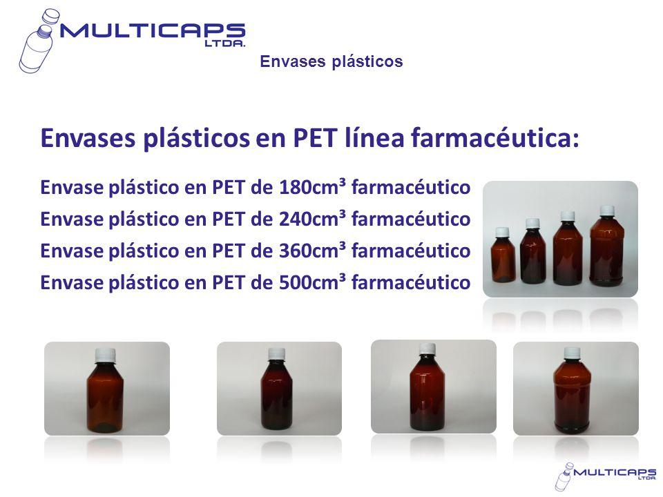 Envases plásticos en PET línea farmacéutica: