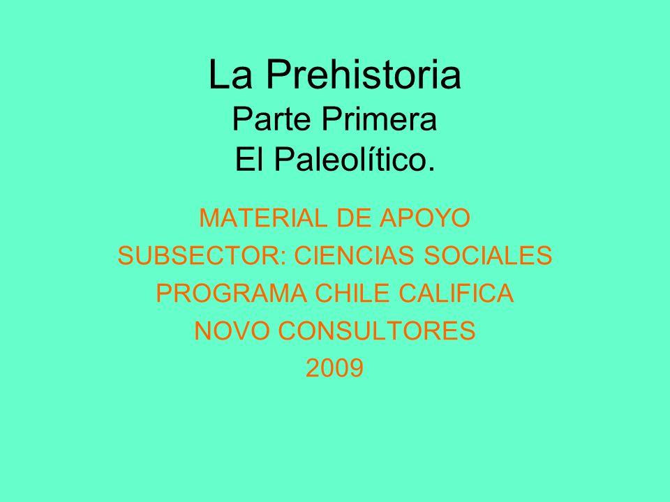 La Prehistoria Parte Primera El Paleolítico.