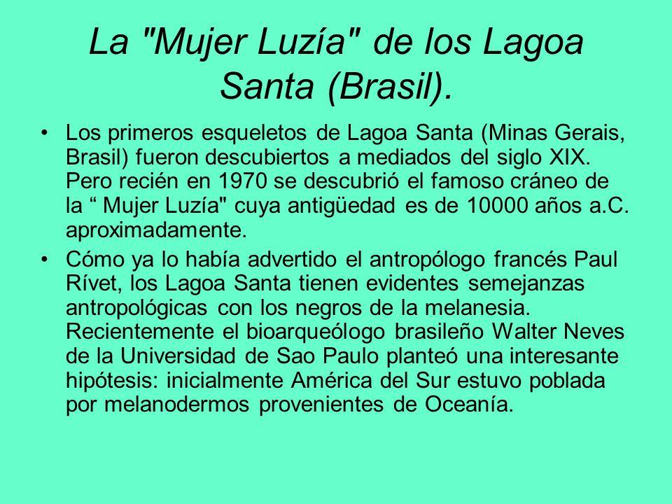 La Mujer Luzía de los Lagoa Santa (Brasil).