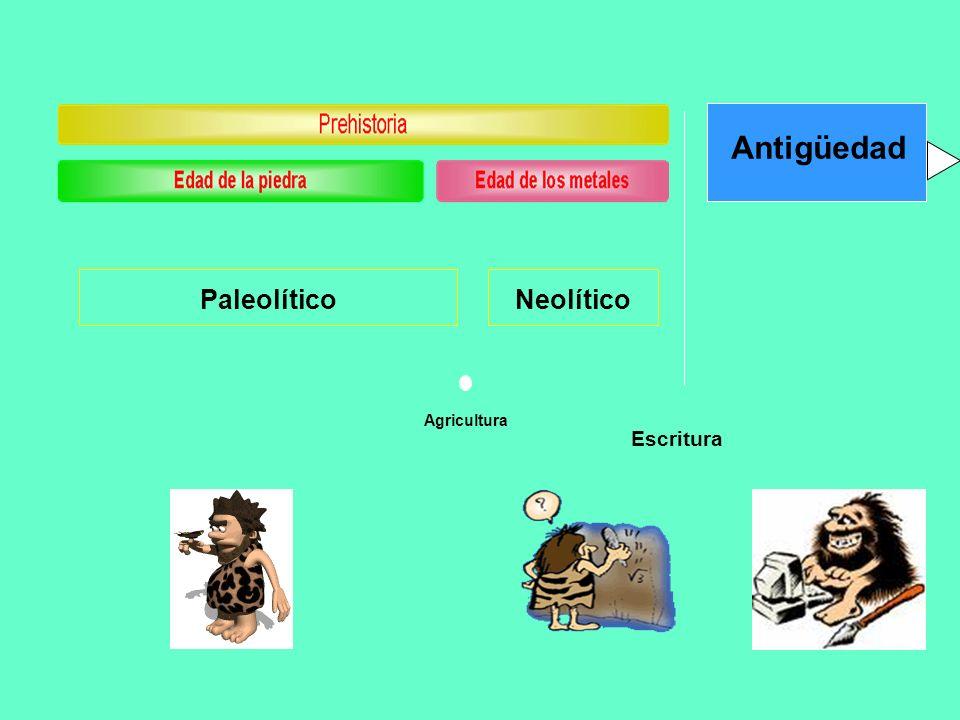 Antigüedad Paleolítico Neolítico Agricultura Escritura