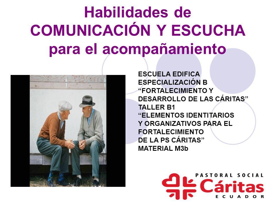 Habilidades de COMUNICACIÓN Y ESCUCHA para el acompañamiento