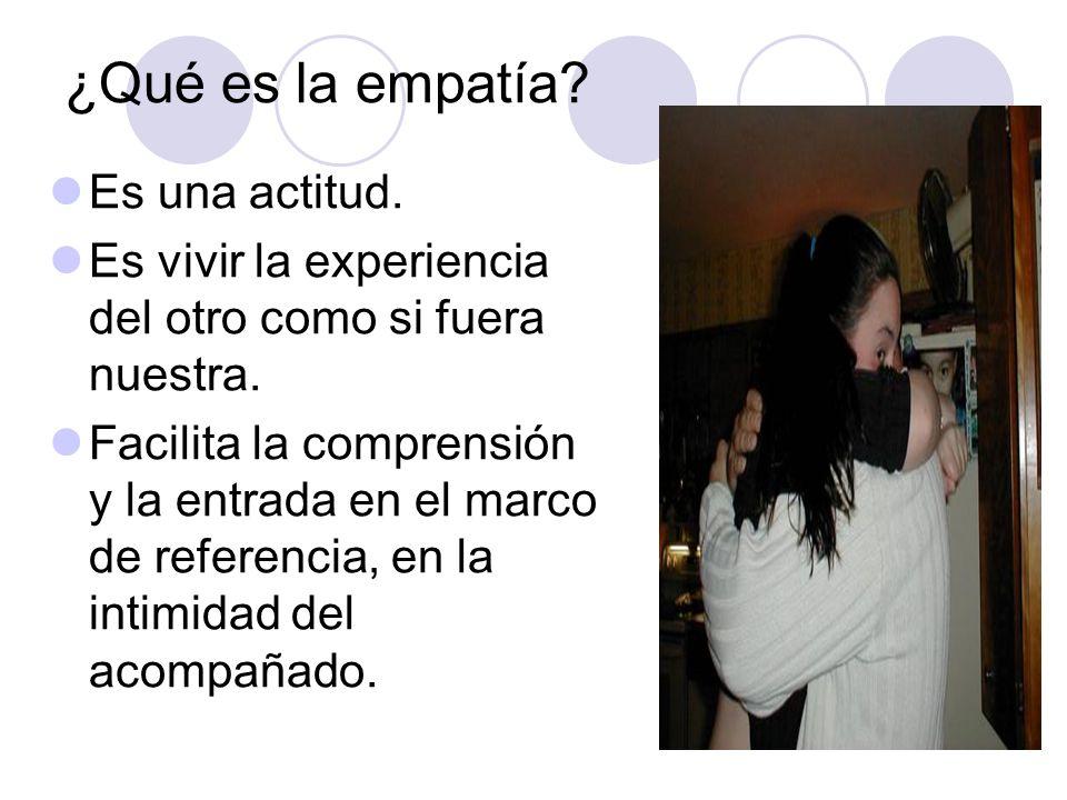¿Qué es la empatía Es una actitud.