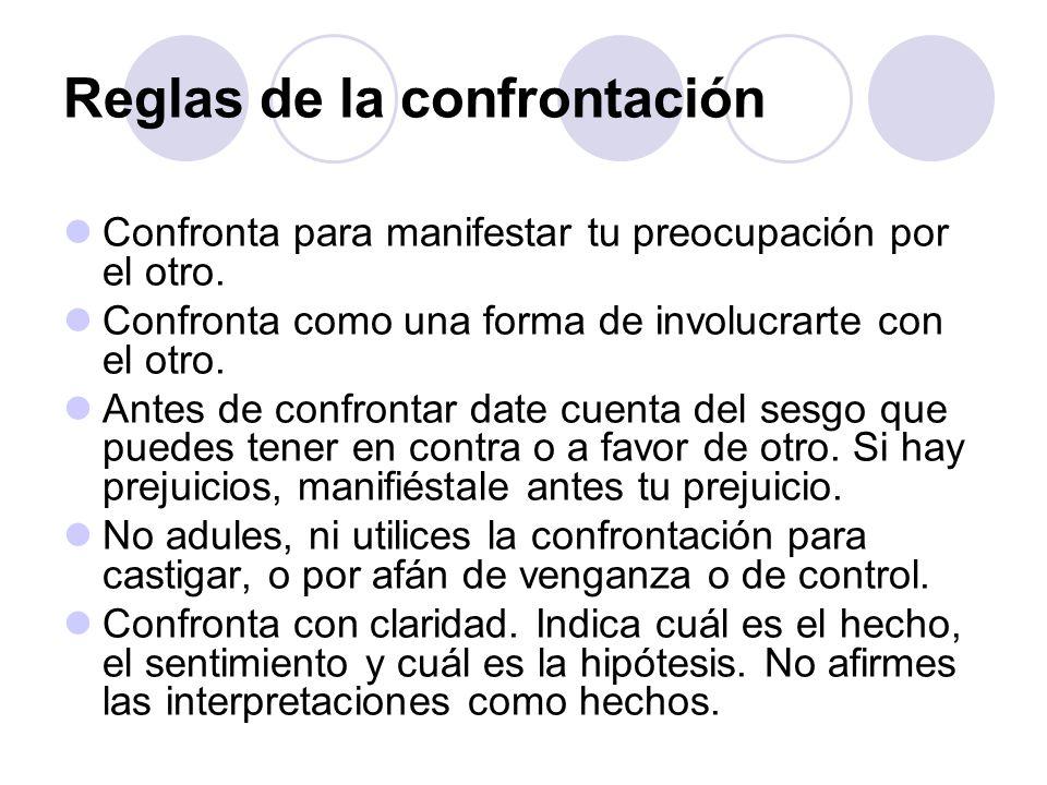 Reglas de la confrontación