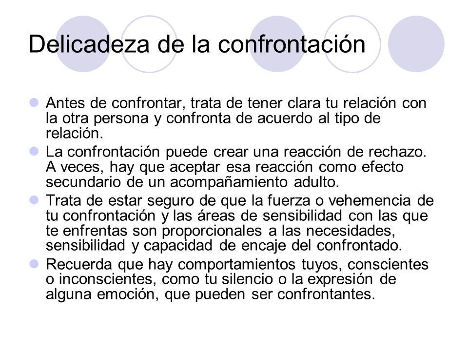 Delicadeza de la confrontación