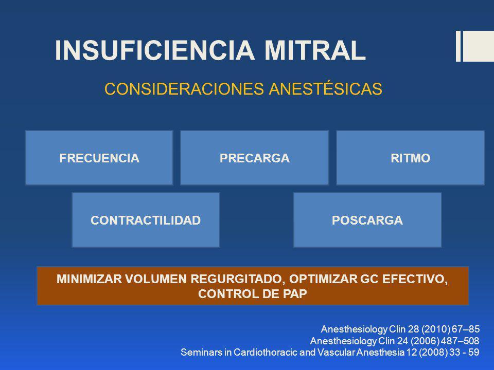MINIMIZAR VOLUMEN REGURGITADO, OPTIMIZAR GC EFECTIVO, CONTROL DE PAP