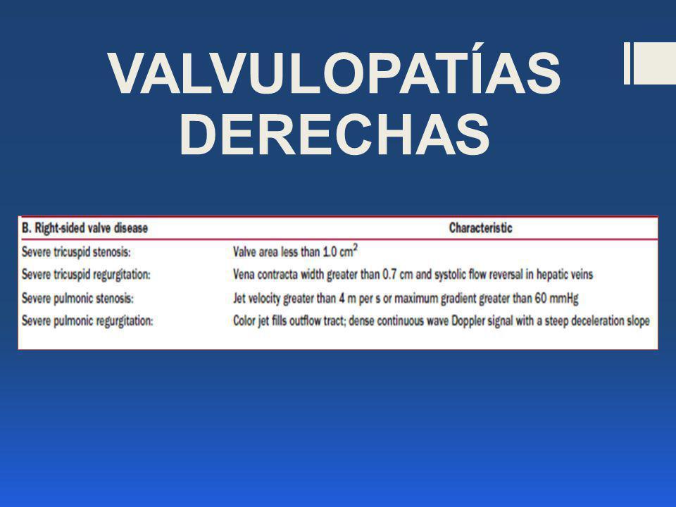 VALVULOPATÍAS DERECHAS
