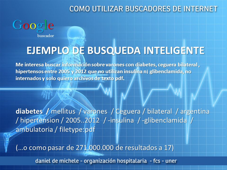 Google EJEMPLO DE BUSQUEDA INTELIGENTE